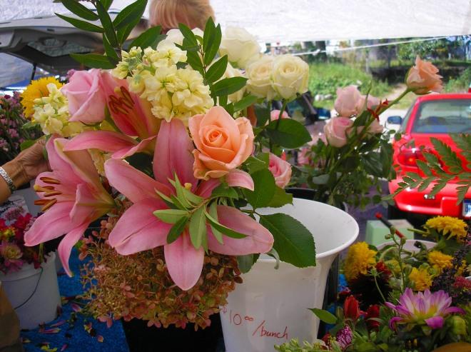 Flowers at Fulton Street Farmers Market