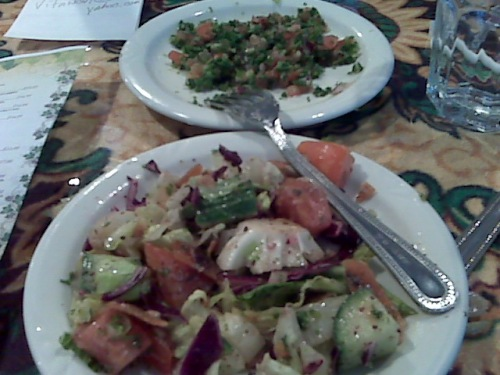 Mediterranean Salads at La Crave Restaurant in Grand Rapids, Michigan