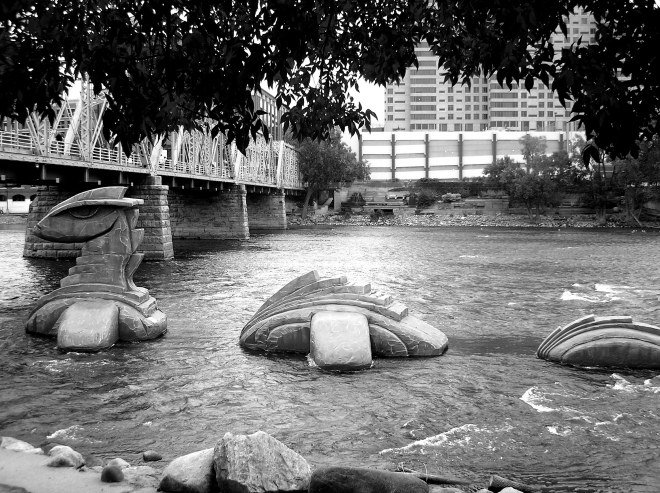 Artprize Entry 2009 ~ Nessie on the Grand River in Grand Rapids, MI