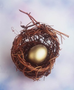 Your nest egg...