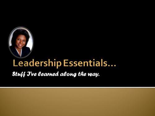 Leadership Essentials Capture